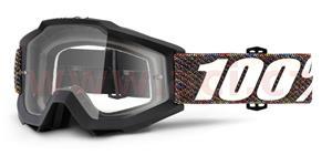 okuliare Accuri Krick 100% čiré plexi s čepy pre slídy