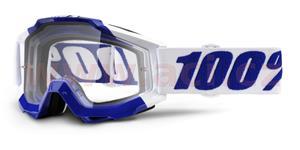 okuliare Accuri Calgary 100% čiré plexi s čepy pre slídy