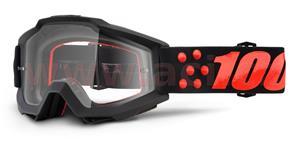 okuliare Accuri Gernica 100% čiré plexi s čepy pre slídy