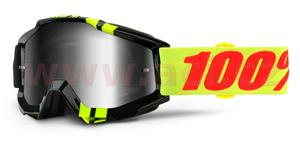 okuliare Accuri Zerbo 100% stieborné chrom plexi + čiré plexi s čepy pre slídy