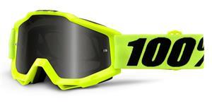 brýle Accuri Sand Fluo Yellow, 100% - USA (kouřové plexi s čepy pro slídy + čiré plexi s čepy pro slídy)