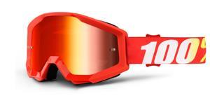 okuliare Strata Furnace 100% červené chrom plexi s čepy pre slídy