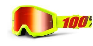 okuliare Strata Mercury 100% červené chrom plexi s čepy pre slídy