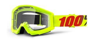 okuliare Strata Mercury 100% číré plexi s čepy pre slídy