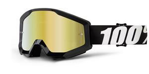 okuliare Strata Outlaw 100% zlaté chrom plexi s čepy pre slídy