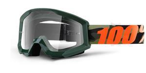 okuliare Strata Huntitistan 100% číré plexi s čepy pre slídy