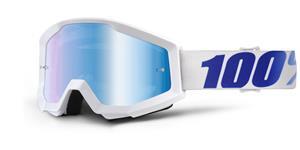 okuliare Strata Equinox 100% modré chrom plexi s čepy pre slídy
