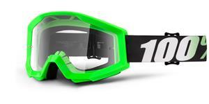 okuliare Strata Arkon 100% číré plexi s čepy pre slídy