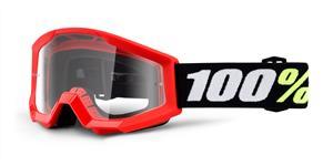 brýle Strata Mini Gron Red, 100% - USA dětské (čiré plexi s čepy pro slídy)