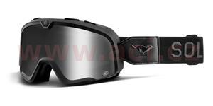 custom okuliare Barstow El Solitario 100% stieborné chrom plexi