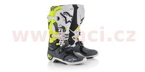 boty Tech 10 limitovaná edice SX Anaheim 2018, ALPINESTARS - Itálie (žluté fluo/černé/bílé/šedé, vel. 42)