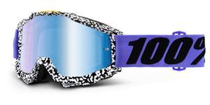 okuliare Accuri Brentwood 100% modré chrom plexi + čiré plexi s čepy pre slídy
