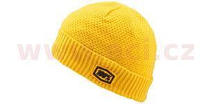 čepice zimní Capital, 100% - USA (žlutá)