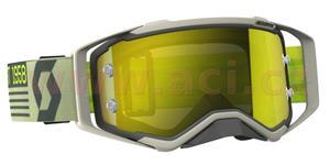 brýle PROSPECT, SCOTT - USA (šedé/béžové, žluté chrom plexi s čepy pro slídy)