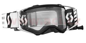 okuliare preSPECT WFS SCOTT čierne/biele čiré plexi s Roll-Off