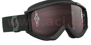 brýle RECOIL XI WORKS, SCOTT - USA (černé/bílé, stříbrné chrom plexi s čepy pro slídy)