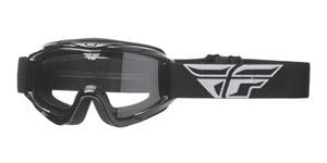 okuliare Focus FLY RACING čierne čiré plexi bez čepů pre slídy