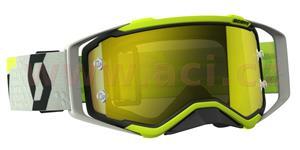 okuliare preSPECT SCOTT čierne/žlté žlté chrom plexi s čepy pre slídy