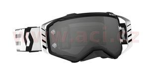 brýle PROSPECT, SCOTT - USA (černé/bílé, šedé Light sensitive plexi s čepy pro slídy)