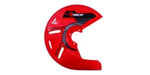 kryt predného kotúča RTECH  červený