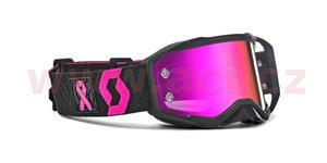 okuliare preSPECT LIMITED BCA SCOTT čierne/rúžové rúžovéchrom plexi s čepy pre slídy