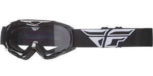 okuliare Focus FLY RACING DETSKÉ čierne čiré plexi bez čepů pre slídy