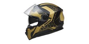 přilba N301 STEEL, NOX (zlatá/černá matná, balení vč. pinlock folie, vel. 2XL)