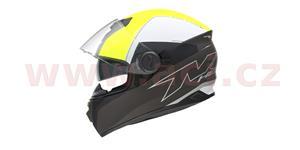 přilba N301 CUT, NOX (žlutá fluo/bílá/černá matná, balení vč. pinlock folie, vel. XS)