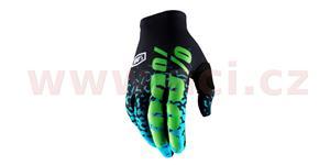 rukavice CELIUM 2, 100% - USA (černá/zelená , vel. XL)
