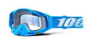 brýle Racecraft Monoblock, 100% - USA (čiré plexi + chránič nosu +20 strhávaček)