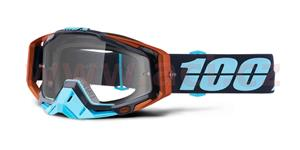 brýle Racecraft Ergono, 100% - USA (čiré plexi + chránič nosu +20 strhávaček)
