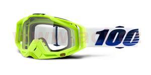 brýle Racecraft GP21, 100% - USA (čiré plexi + chránič nosu +20 strhávaček)