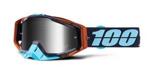 brýle Racecraft Ergono, 100% - USA (stříbrné chrom plexi + čiré plexi + chránič nosu +20 strhávaček)