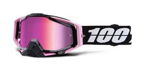 brýle Racecraft Floyd, 100% - USA (růžové chrom plexi + čiré plexi + chránič nosu +20 strhávaček)