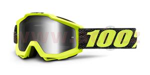 brýle Accuri Tresse, 100% - USA (čiré plexi s čepy pro slídy)
