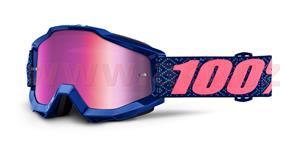 brýle Accuri Futura, 100% - USA (růžové chrom plexi s čepy pro slídy)