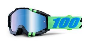 brýle Accuri Zerg, 100% - USA (modré chrom plexi s čepy pro slídy)