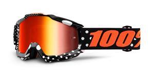 brýle Accuri Gaspard, 100% - USA (červené chrom plexi s čepy pro slídy)