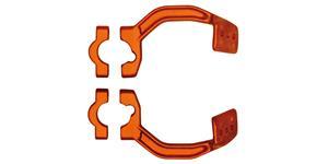 kovový montážní kit na řídítka krytů páček FLX / VERTIGO / DUAL EVO, RTECH - Itálie (oranžový, pár)