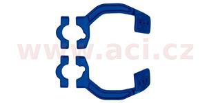 kovový montážní kit na řídítka krytů páček FLX / VERTIGO / DUAL EVO, RTECH - Itálie (modrý, pár)