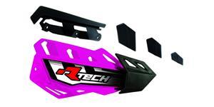 plasty krytů páček FLX / FLX ALU / FLX ATV, RTECH - Itálie (neon oranžovo-černé, pár)