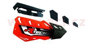plasty krytů páček FLX / FLX ALU / FLX ATV, RTECH - Itálie (neon růžovo-černé, pár)