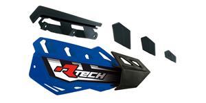 plasty krytů páček FLX / FLX ALU / FLX ATV, RTECH - Itálie (modro-černé, pár)