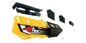 plasty krytů páček FLX / FLX ALU / FLX ATV, RTECH - Itálie (žluto-černé, pár)