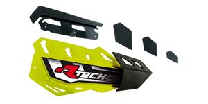 plasty krytů páček FLX / FLX ALU / FLX ATV, RTECH - Itálie (neon žluto-černé, pár)