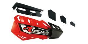 plasty krytů páček FLX / FLX ALU / FLX ATV, RTECH - Itálie (červeno-černé, pár)