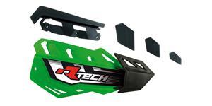 plasty krytů páček FLX / FLX ALU / FLX ATV, RTECH - Itálie (zeleno-černé, pár)