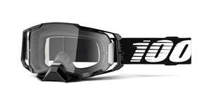 brýle ARMEGA Black, 100% (čiré plexi s čepy pro slídy)