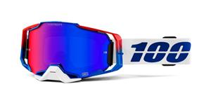 brýle ARMEGA GENESIS, 100% (HIPER modro červené plexi s čepy pro slídy)
