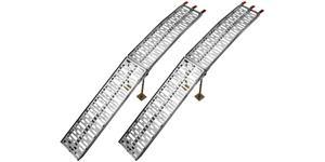 nájezdová rampa HD - skládací - hliníková (s podpěrou), Q-TECH (1 pár)